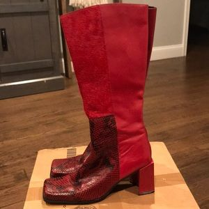 Enzo Angiolini Red Boots